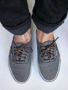 leather cord shoelaces Grey Vans 6fe50e3567