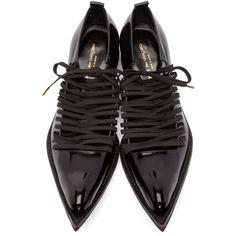 Comme des Garçons - Black Patent Leather Pointed Oxfords