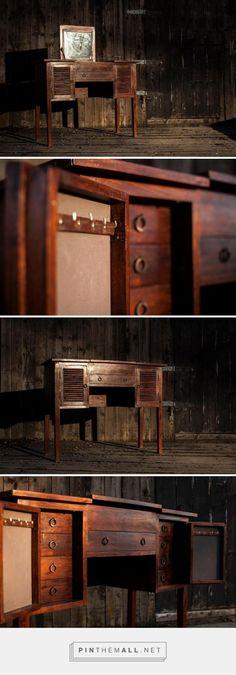 Oro/Dark Wood Sminkebord, 100x40x78 1000,-