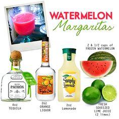 Watermelon margaritas, two of my favorite things...@Linda Coleman Hogan this is calling our names.