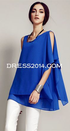 Woman's Casual Stylish Irregular Sleeveless Pluse Size T- shirt