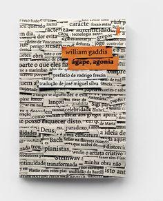 cover for the William Gaddis bookÁgape, Agoniadesigned forAhab Ediçõesby Andrew Howard studio #books #design