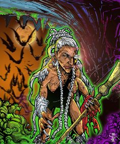 Bruja/ Witch    The legend of the Bruja in the Dominican Republic originates in Europe with a little African flavor thrown in for good measure.