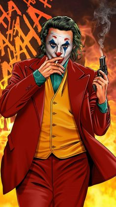 Joker Smoker - IPhone Wallpapers