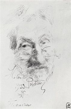 Self portrait, 1923 by Ilya Repin.