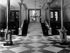 A glimpse of the Main Hall can be seen through vestibule. | 15 Gorgeous Photos Of The Old Cincinnati Library