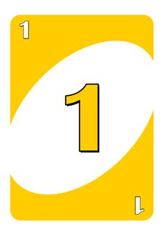 uno number 1 card - Google Search Uno Cards, Paper Puppets, Custom Decks, Number Two, Letters, Kids, Google Search, Birthday, Young Children