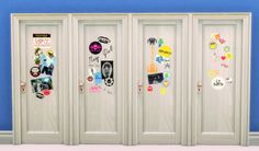 The Sims 4 | budgie2budgie Sticker Doors in 8 flavours base game build mode recolor