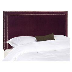 House of Hampton Ginger Upholstered Panel Headboard Upholstery: Bordeaux, Size: Queen