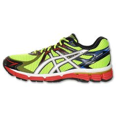 Great deal, zippy color. Asics GT-2000 Men's Running Shoes | Run.com | LIME/WHT/RED