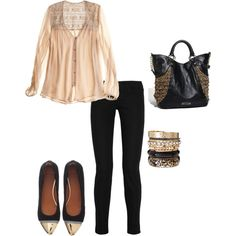 Date night outfit- I would wear heels.