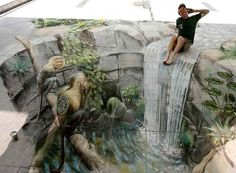 3D Chalk Art by Julian Beever