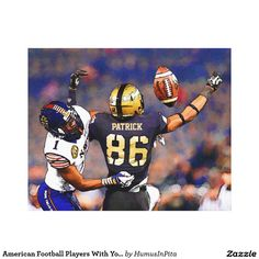 American Football Players With Your Name Painting Canvas Print