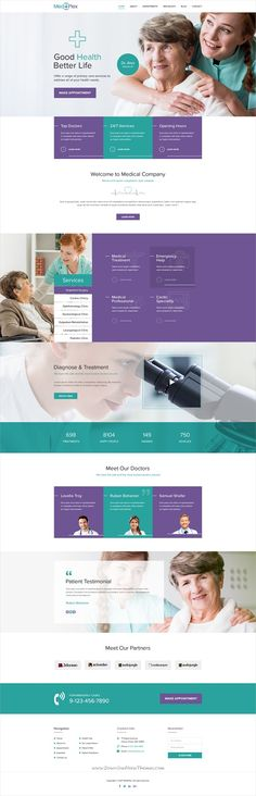 Buy MediPlex - Multi Purpose PSD Template by designingmedia on ThemeForest. Introduction MediPlex – Multi Purpose PSD Template is designed for multi purpose. This template is suitable for medi. Homepage Design, Web Design Agency, Design Layouts, Design Art, Design Ideas, Professional Website Templates, Healthcare Website, Pag Web, Medical Websites