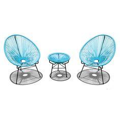 Harmonia Living Acapulco 3 Piece Lounge Seating Group with Cushion | AllModern