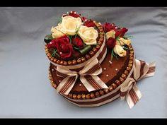 Торт из конфет своими руками. Мастер-класс. DIY Cake of sweets - YouTube