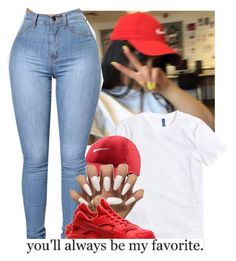 """Favorite❣"" by heavensincere ❤ liked on Polyvore featuring NIKE"