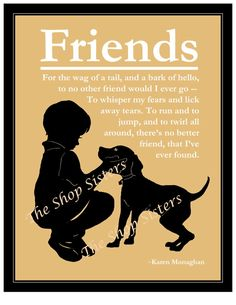 Boy and His Dog Poem wall art print Silhouette  Black Wheat by TheShopSisters, $15.00