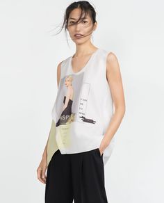 Image 1 of GIRL PRINT T-SHIRT from Zara