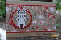 Bastelabend bei Petra, Weihnachtskarte, Ausgestochen weihnachtlich