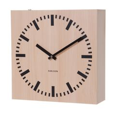 Karlsson Double Sided Square Wall Clock Light Wood at Contemporary Heaven UK