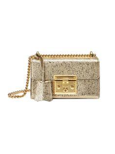 GUCCI Padlock Metallic Shoulder Bag. #gucci #bags #lace #lining #metallic #shoulder bags #suede #hand bags #