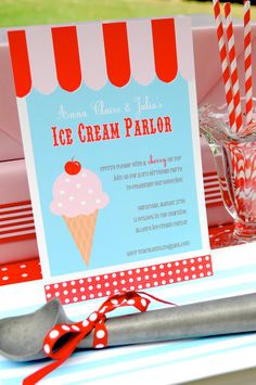 Ice Cream Parlor Party Collection Printable by sweetpeachpaperie, $13.50