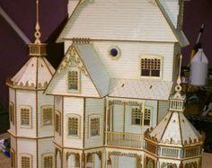 Ashley II Gothic Victorian Mansion Dollhouse by LaserDollhouses