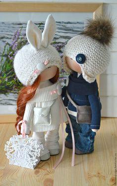 Куклы тыквоголовки ручной работы. Интерьерная текстильная кукла (мальчик). Ольга. Ярмарка Мастеров. Для любимой, для украшений, для любимого, трикотаж