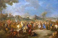 Victoria de David sobre Goliat. Nicolás Bertin. Antiguo Testamento.