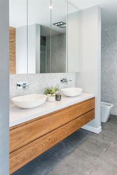 Vanity by Loughlin Furniture – Diy Bathroom Remodel İdeas Diy Bathroom Remodel, Bathroom Renos, Laundry In Bathroom, Bathroom Shelves, Bathroom Renovations, Small Bathroom, Decorating Bathrooms, Vanity Bathroom, Wood Vanity