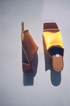 cbd6ad9433 MIISTA Caterina Slide - Canary Lycra Calf Leather, Women Wear, Cufflinks,  Envy,
