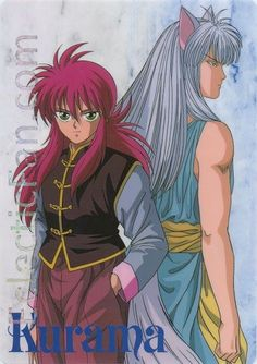 Anime Shitajiki - Yu Yu Hakusho - Kurama in both forms.