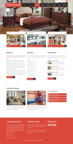 23 Best Modern Interior and Furniture HTML Web Templates