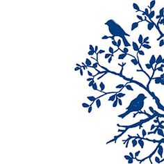Two Birds on a Branch Rubber Stamp