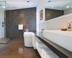 Contemporary bathroom with heated floors - Decoist