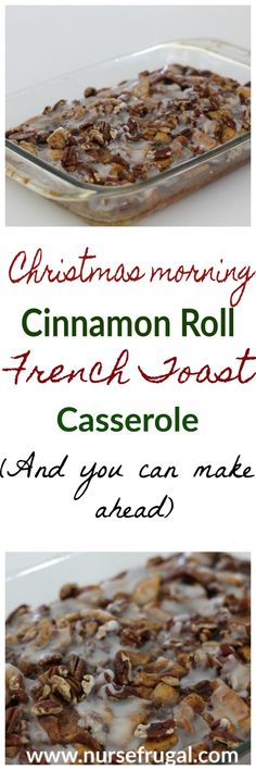 Make ahead casserole perfect for Christmas morning breakfast holiday brunches and bridal and baby showers! Christmas breakfast Christmas morning Christmas tradition make ahead casserole potluck recipe brunch recipe Cinnamon Roll French Toast, French Toast Bake, French Toast Casserole, Cinnamon Rolls, Breakfast Casserole, Apple Cinnamon, Christmas Morning Breakfast, Christmas Brunch, Christmas Cooking