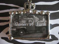 Custom Hand Soldered Queen of Junk Crown Pendant by Nanettemc