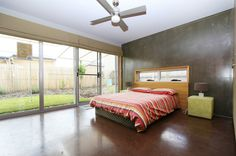 Contemporary Bedroom by Strine Environments - concrete as thermal mass
