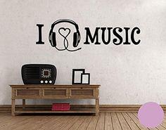 Wandtattoo I Love Music B X H: 40cm X 12cm Farbe: Flieder (erhältlich