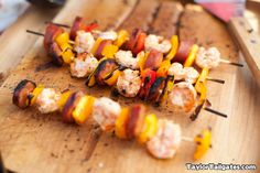 Shrimp, Sausage and Pepper Kabobs!