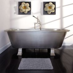 "73"" Carignan Brushed Stainless Steel Tub on Feet $2000"