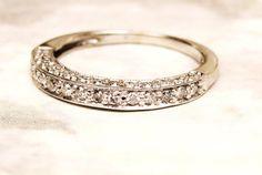 Vintage Semi-Eternity Diamond Wedding Ring by LadyRoseVintageJewel