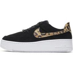Nike Air Force 1 Sage Low Damenschuh mit Animal-Print - Schwarz Nike