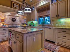 Stunning lighting in different colors on bricks - homeyou ideas #interiordesign #homedecor #kitchen