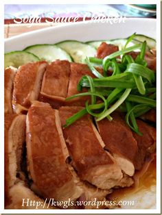 INTRODUCTION Soya sauce chicken is a rather classic Cantonese meat dish. The chicken was braised in some watery soya sauce such that it is brownish in colour and the texture of the meat is t… Soya Sauce Chicken, Soy Chicken, Steamed Chicken, Poached Chicken, Asian Chicken, Chicken Recipes, Soy Sauce, Chinese Chicken, Braised Chicken