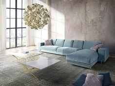 New luxury velvet custom Oboe sofa collection