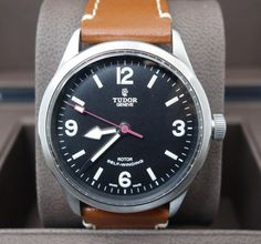 Tudor HERITAGE RANGER 79910 TOBACCO COLORED LEATHER STRAP AUTOMATIC WARRANTY