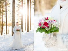 An Australian bride and a Finnish groom decided to have an open air chapel Winter Wedding in Finland. First look photos, fun games and lots of snow! Chapel Wedding, Winter Weddings, Finland, Bridal, Wedding Dresses, Photography, Fashion, Bride Dresses, Moda