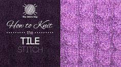 How to Knit the Tile Stitch featuring LanaMundi Yarns Tajik Mohair.